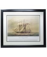 Capture of HM Schooner Margaretta Framed 16x20 Historical Navy Photo - $155.42