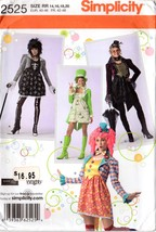Simplicity 2525 Misses' Steampunk, Clown, Goth, Harajuku Cosplay Costume... - $9.95