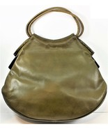 Guild Creations Green Leather Purse Renaissance Style Unique Whip Stitch... - $89.09