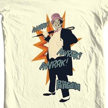 The Penguin T-shirt Bat-Man villain vintage TV show Burgess Meredith cotton tee image 1