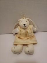 Russ Berrie Angel Teddy Bear Plush Teddy Star Halo Glitter Dress Wings 1... - $10.66