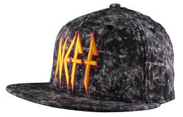 Neff Copricapo Nero Leopardo Rock Logo Snapback Cappellino Baseball F13018 Nwt