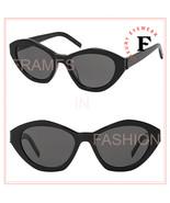 SAINT LAURENT MONOGRAM YSL SL M60 001 Black Classic Cat Eye Sunglasses 54mm - $252.45