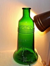 "7-1/4"" EMERALD GREEN LIBERTY BELL BOTTLE~RINGS~BUBBLES~REPLICA~REPRODUCTION - $14.80"