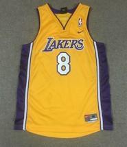 Nike Kobe Bryant Los Angeles Lakers NBA Jersey #8 Yellow Youth Medium Sewn - $34.64