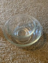Vintage Sunbeam MixMaster Large/Small Glass Mixing Bowls Model 423A Fire... - $49.49