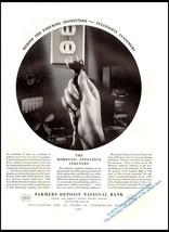 Original 1935 Vintage Print Ad  Farmers Deposit National Bank Pittsburgh  - $9.49