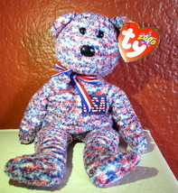 July 4, 2000 Ty Beanie Babies USA Bear Red White and Blue w/Tags  (9 inch) - $39.55