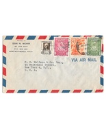 1952 Haiti Airmail Cover Port au Prince to US Sc C52 C55 380 381 - £3.79 GBP