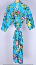Bath robe Cotton Robe,Kimono Indian Pure Cotton Bath Robe ,Night Wear Su... - $32.42