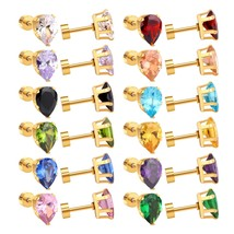 2017 Brand New Gold Drop-Shaped Mixed Crystal Plug Earring For Women Jew... - $23.01
