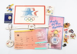 Lot of 1984 Los Angeles Olympics Memorabilia Sam The Eagle Olympic Pins - $178.20