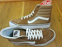 Vans Mens Sk8-Hi Tigers Eye Brown True White Canvas Suede Skate shoes Size 9 - $64.34