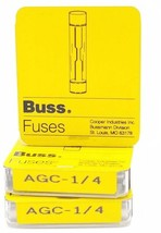 LOT OF 15 NEW BUSSMANN AGC-1-1/4 MINI FUSES 1 AMP, 250VAC, AGC114