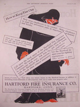 1924 Grimm Reaper Hartford Fire Insurance How to Keep Fire Out Print Ad  - $9.99