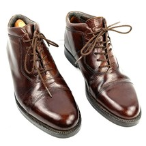 Men's GIORGIO BRUTINI Brown Leather Cap Toe Dress Ankle Boots Size 8.5 Med - $23.75