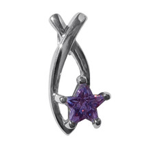 Sterling silver Ichthys Jesus Fish Purple Star ... - $12.99