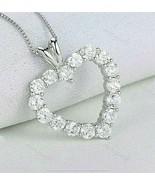"""1Ct Round Cut VVS1/D Diamond Heart Pendant 14K White Gold Finish 18"""" Fre... - $110.49"""