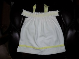 """Janie and Jack """"Lemon Cafe"""" Swim Cover Up White Yellow Terry Size 6/12 M... - $28.00"""