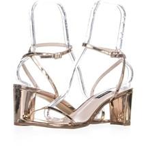 Nine West Provein Ankle Strap Block Heel Sandals 191, Pink, 10.5 US - $25.91
