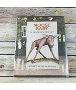 Moose Baby 1979 Childrens Vintage Book Berniece Freschet Hardcover Jim A... - $49.99