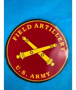 US Army Field Artillery Cross Cannons Red Gold Magnetic Decal Large New ... - $11.30