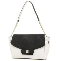 new KATE SPADE montrose place SHANTEL handbag white & black leather purs... - ₨11,011.89 INR