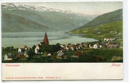 Panorama Vossevangen Norge Norway 1910c postcard - $6.44