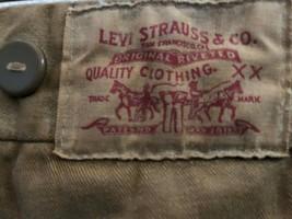 Vintage Levi Strauss Khaki Pants Suspender Buttons Men's Size 34x32 Levi's - $133.16