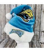 NFL Jacksonville Jaguars Football Santa Christmas Hat Embroidered Vintag... - $24.74