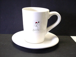 Vintage Snowman with Shovel Cup and Saucer by William-Sonoma - $9.99