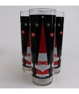 4 Dairy Queen DQ Holt Howard Style Hi Ball Glasses Christmas Tumblers Li... - $39.60