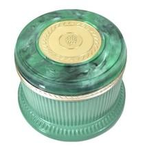 Vintage Avon Green Marbleized Lidded Jar/Trinket Box with Gold Embellish... - $18.66