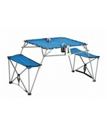 CC Home Furnishings Portable Fold-up Table Bench Cupholders Backpack Set... - $132.40