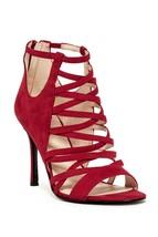 Nine West Women Gladiator Sandals Funk Fresh Size US 7M Red Suede - $25.86