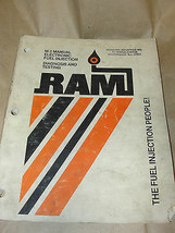 RAM M-2 Manual Electronic Fuel Injection Diagnosis & Testing Book Pub.1983 - $7.99