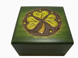 Handmade Shamrock Jewelry Cufflink Ring Box - $19.79