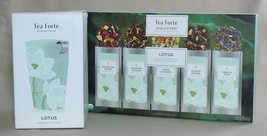 TEA FORTE KATI Steeping Cup & Infuser plus 15 Single Steeps Pouches ~ LOTUS - $25.19
