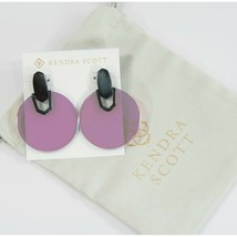 Kendra Scott Didi Iridescent Dichroic Glass Large Round Drop Earrings NWT - $83.66