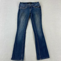 Premiere Denim by rue21 Jeans Womens 1/2 Blue Bootcut Low Rise Embellish... - $18.95