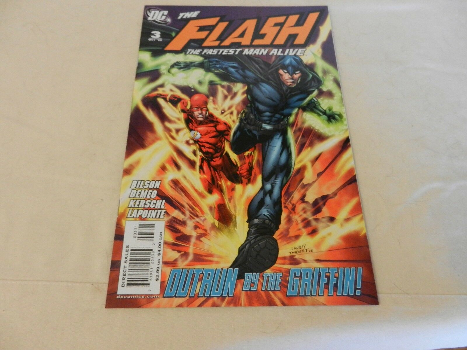 The Flash The Fastest Man Alive Outrun by the Griffin! DC Comics #3 October 2006