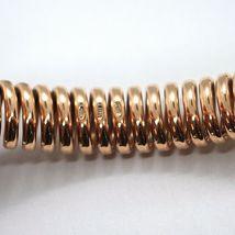 SOLID 18K ROSE GOLD ELASTIC BRACELET BIG WAVE 11 MM, FINELY WORKED SEMI RIGID image 5