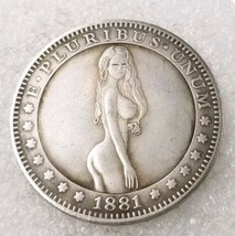 New Hobo Nickel 1881 USA Morgan Dollar Girl Bikini Beach COIN Anime - $11.99