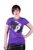 Famous Stars & Straps Purple & Black Juniors Disco Crew Tee Cotton T-Shirt