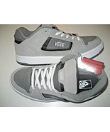 Vans Mens Docket Grey Charcoal White Suede Skate shoes Size 7 VN000KWN1M... - $64.34