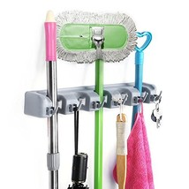 HOMEIDEAS Broom and Mop Holder Wall Mounted Garden Tool Rack Garage Stor... - $10.54