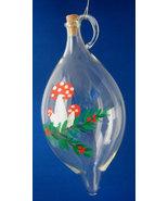 Vintage Mushrooms Blown Glass Urn Christmas Ornament Glass Mid Century 1... - $24.00