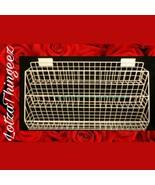 RARE White Heavy Duty Slat Wall Display Shelves 3 Downslope Baskets 23.5... - $71.27
