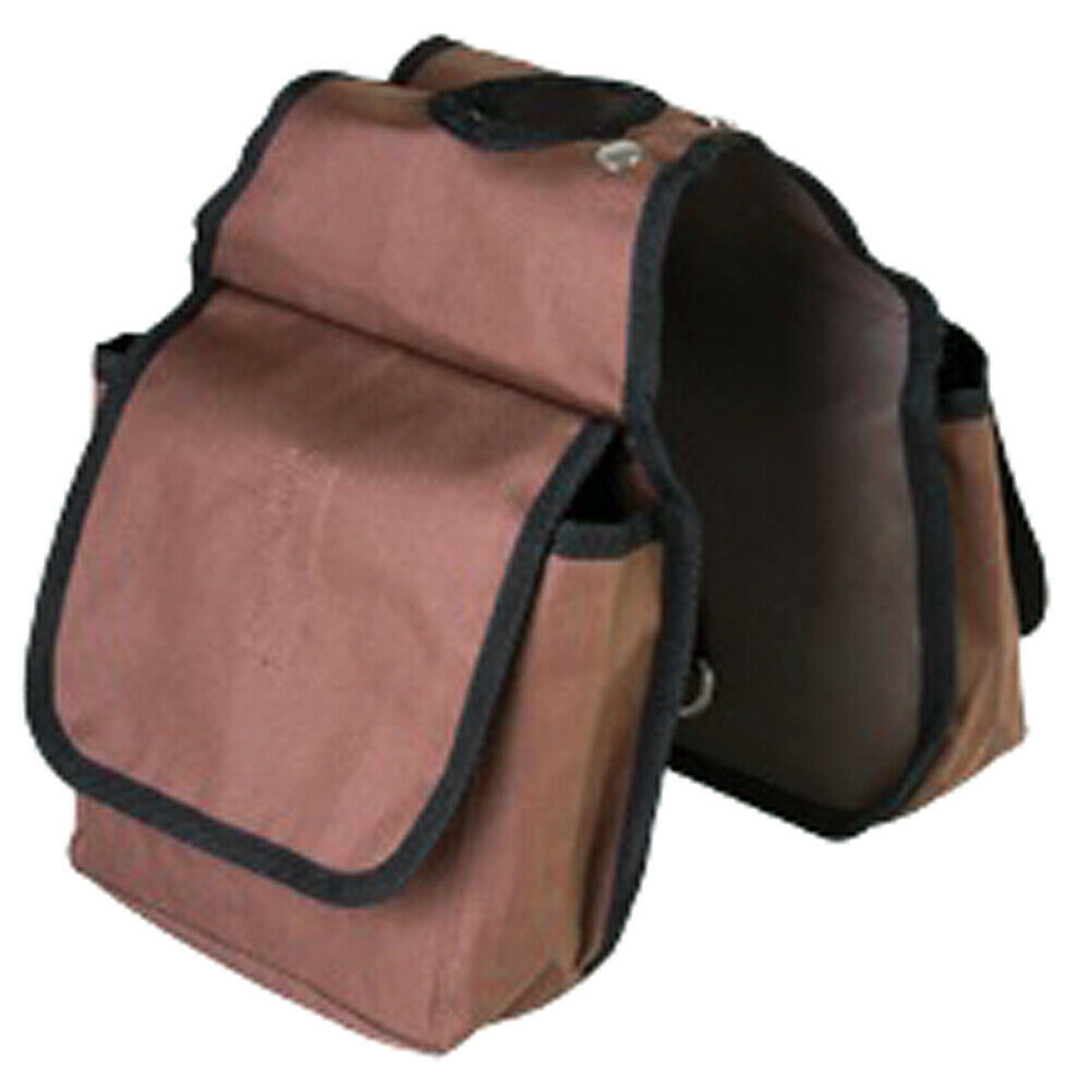 "7.5'X7.5"" Hilason Western Tack Horse Horn Bag Brown Pockets U-41BR - $22.72"