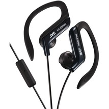 Jvc In-ear Sports Headphones With Microphone & Remote (black) JVCHAEBR80 - $23.89